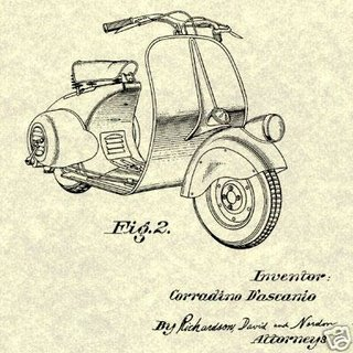 Patent drawing for the Vespa
